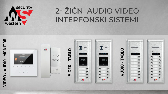 Western Security audio/video interfoni